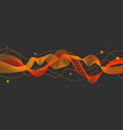 abstract red and yellow lines vector image