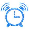 alarm clock ring grunge icon vector image