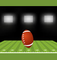 american football stylish with ball vector image