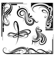 art nouveau design elements vector image vector image