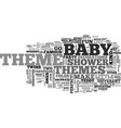 baby shower themes text word cloud concept vector image vector image