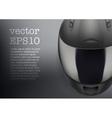 Background of gray motorcycle helmet vector image