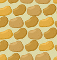 Background of potato seamless pattern of vector image vector image