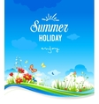 Beautiful summer scenery with flowers vector image vector image