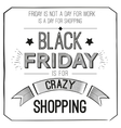 Black Friday poster with quote design template vector image vector image