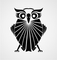 Black Owl Bird vector image