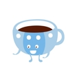 Blue Cup With Hot Drink Children Birthday Party vector image vector image