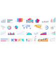 bundle charts diagrams schemes graphs plots vector image