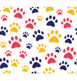 cat or dog paw seamless patterns backgrounds for vector image vector image