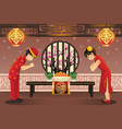 chinese kids celebrating chinese new years vector image vector image
