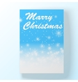 Christmas hollyday card vector image vector image