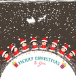 christmas kids background children in circle vector image vector image