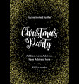 christmas party invitation card template black vector image