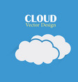 cloud design template two clouds dark blue vector image