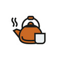 coffee kettle icon on white background vector image vector image