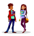 college or university students vector image vector image