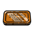 color vintage tobacco shop emblem vector image