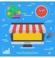 Concept online market vector image vector image