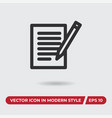 contract icon in modern style for web site and vector image vector image