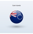 Cook Islands round flag vector image vector image