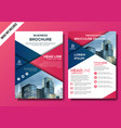 corporate flyer layout template vector image vector image