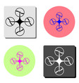drone flat icon vector image