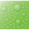 drops on a green background vector image