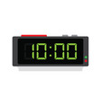 electronic alarm clock icon vector image vector image