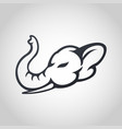 elephant logo icon vector image