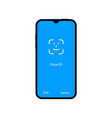 face id facial recognition user verification vector image vector image