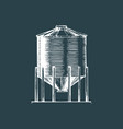 farm hopper drawn sketch vector image