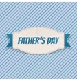 Fathers Day Badge with greeting Ribbon and Text vector image vector image