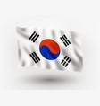 flag korea vector image