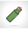 Flat icon for paintball co2 cylinder vector image