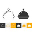 Food tray simple black line icon
