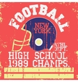 Football vintage t-shirt graphics