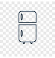 fridge concept linear icon isolated on vector image