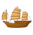 full rigged ship vector image vector image