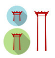 giant swing torii gate icon vector image