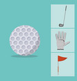 golf game sport vector image