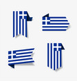 greek flag stickers and labels vector image vector image