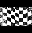 grunged chequered flag vector image