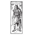 guy of gisbourne vintage vector image vector image