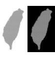 halftone taiwan island map vector image vector image