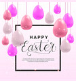 happy easter poster design template greeting card vector image
