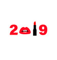 happy new year lettering winter 2019 trendy new vector image vector image