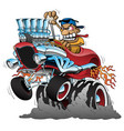 highboy hot rod race car cartoon vector image