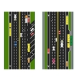 Highway Planning roads streets with parking and vector image vector image