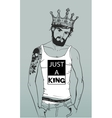 Hipster fashion Barber men with tattoo vector image