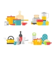 Home kitchenware devices in color flat vector image vector image